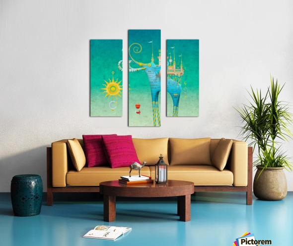 Castellini Elephantini Azure Canvas print