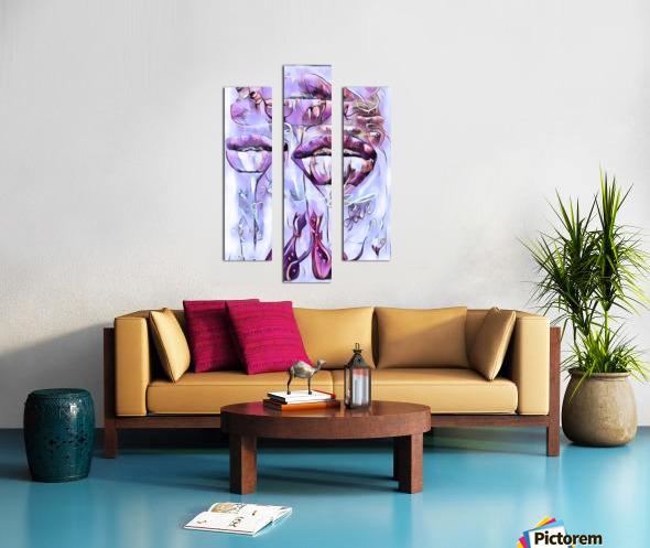 Love me Canvas print