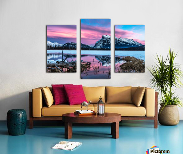 Rundle Mountain Sunset Banff National Park Canvas print