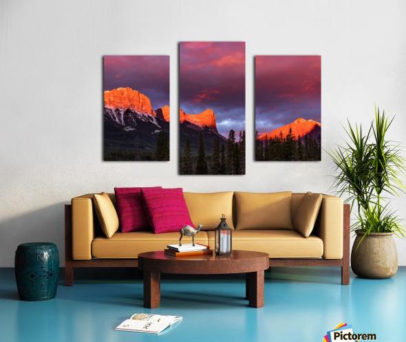 Ha Ling Mountain Range Sunrise Canvas print