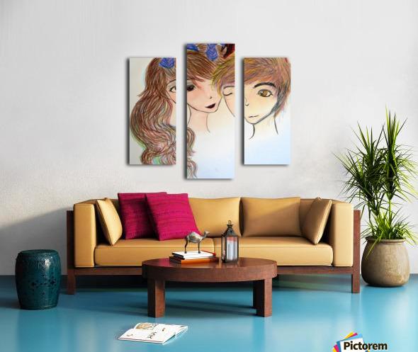 Dayfauncouplelove Canvas print