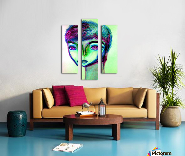 spritecolorsalien7 Canvas print