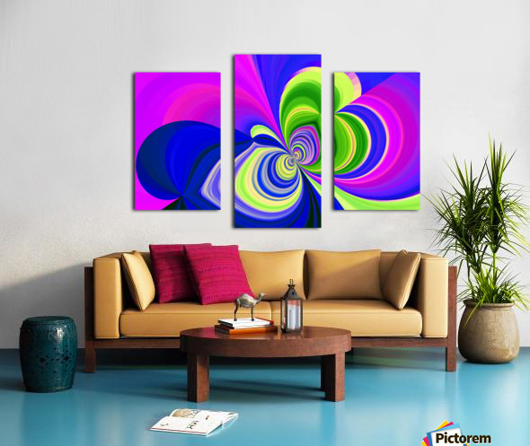 PSYCHEDELIC BUTTERFLY 2 Canvas print