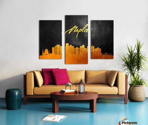 Naples Florida Skyline Wall Art Canvas print