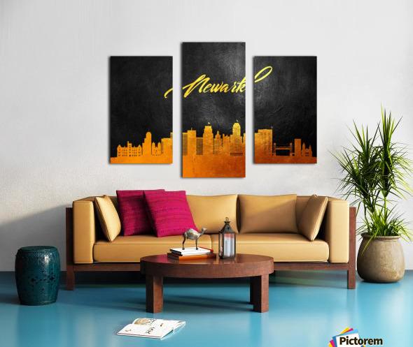 Newark New Jersey Skyline Wall Art Canvas print