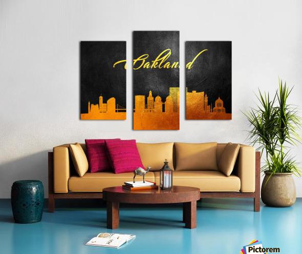 Oakland California Skyline Wall Art Canvas print