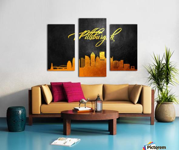Pittsburgh Pennsylvania Skyline Wall Art Canvas print