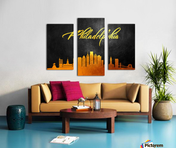 Philadelphia Pennsylvania Skyline Wall Art Canvas print
