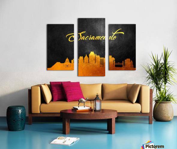 Sacramento California Skyline Wall Art Canvas print