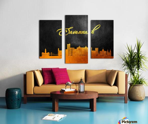 Savannah Georgia Skyline Wall Art Canvas print