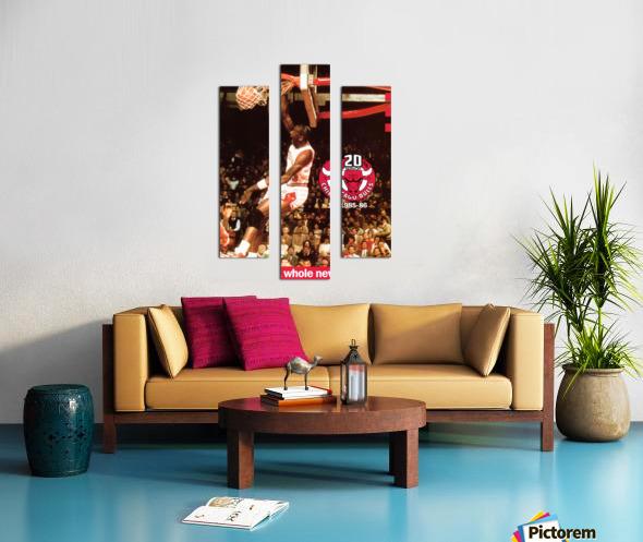 1985 Michael Jordan Dunk Poster Bulls 20th Anniversary Canvas print