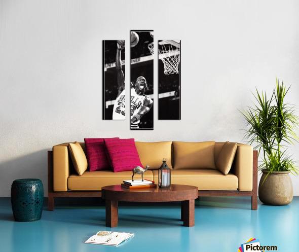 Retro Eighties Michael Jordan Basketball Art Print Canvas print