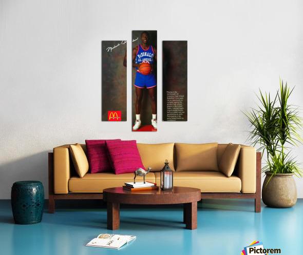 1987 McDonalds Michael Jordan Ad Poster Canvas print