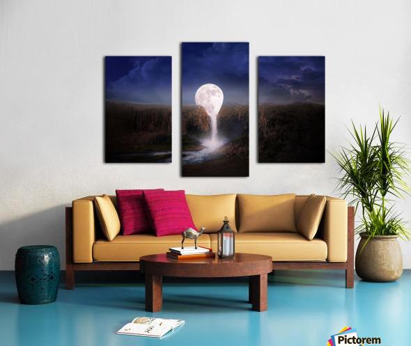 moon landscape night fantasy Canvas print