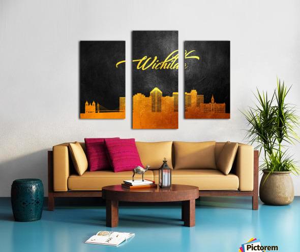 Wichita Kansas Skyline Wall Art Canvas print