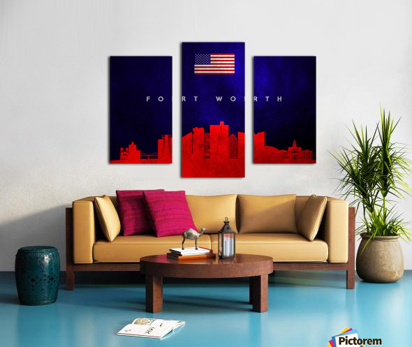 Fort Worth Texas Skyline Wall Art Canvas print