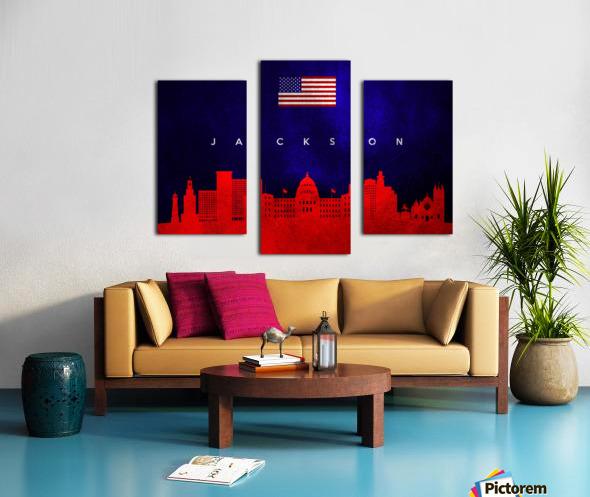 Jackson Florida Skyline Wall Art Canvas print