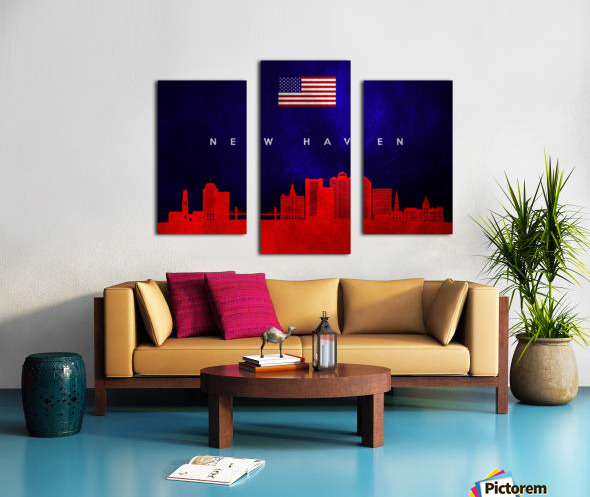 New Haven Connecticut Skyline Wall Art Canvas print