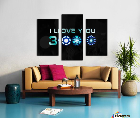 I Love You 3000 Blue Canvas print