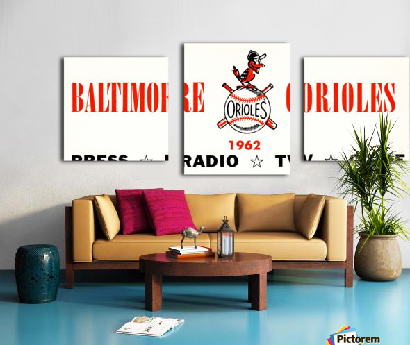 baltimore orioles press guide row one Canvas print