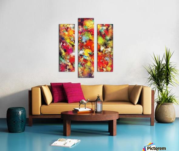 Big colour storm Canvas print