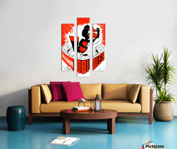 hal decker artist baltimore orioles poster Canvas print
