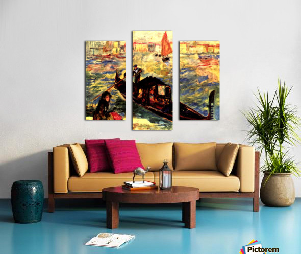 Gondola on the Canale Grande Canvas print