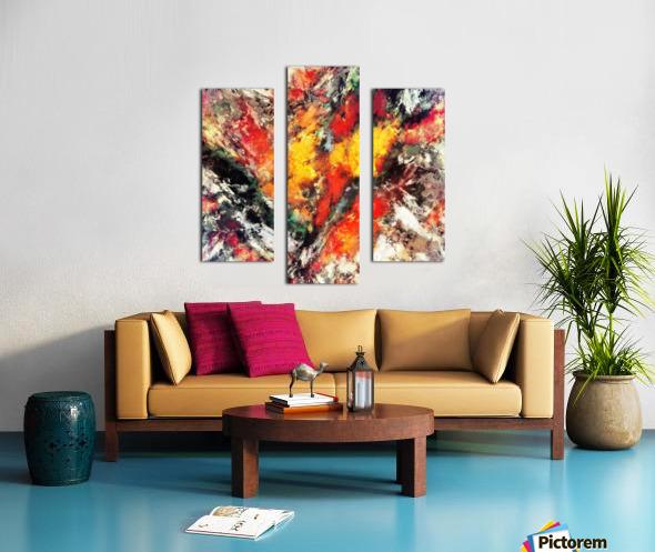 Clattering Canvas print