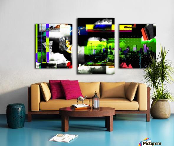 URBAN DENVER 2011 Canvas print