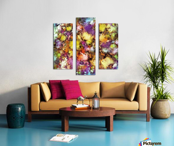 Dismantling the flowers Canvas print