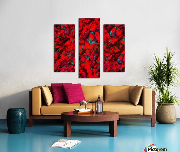 Fluttering red Canvas print