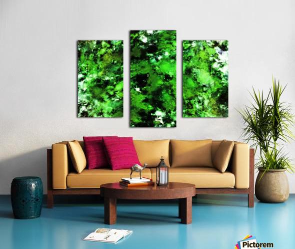 Green deflected Canvas print