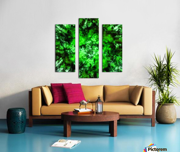 Green burst Canvas print