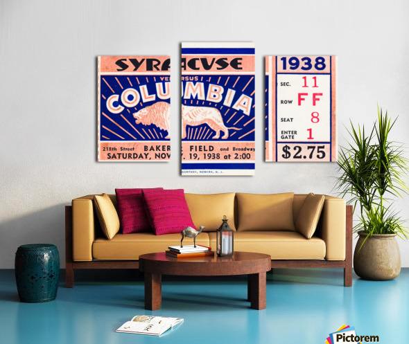 1938 Syracuse vs. Columbia Canvas print