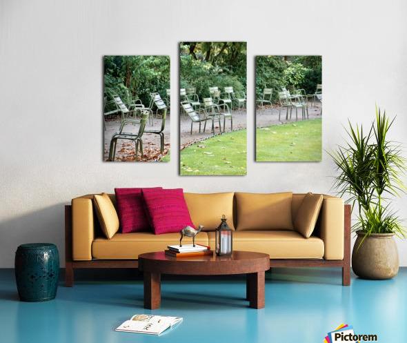 Chaises du Luxembourg   6 Canvas print