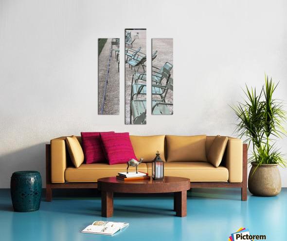 Chaises du Luxembourg   1 Canvas print