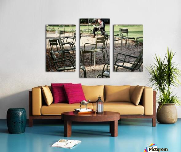 Chaises du Luxembourg   2 Canvas print