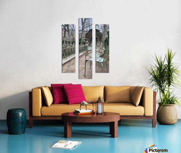 Chaises du Luxembourg   10 Canvas print
