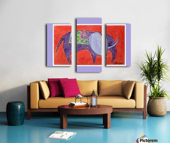 Pretty Pachyderm in frame Canvas print