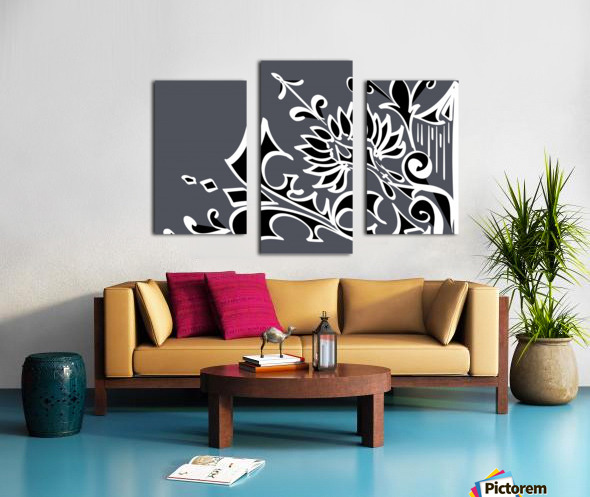 tricolor abstract Canvas print