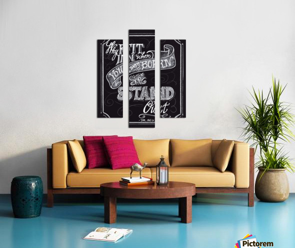 Why Fit In Canvas print