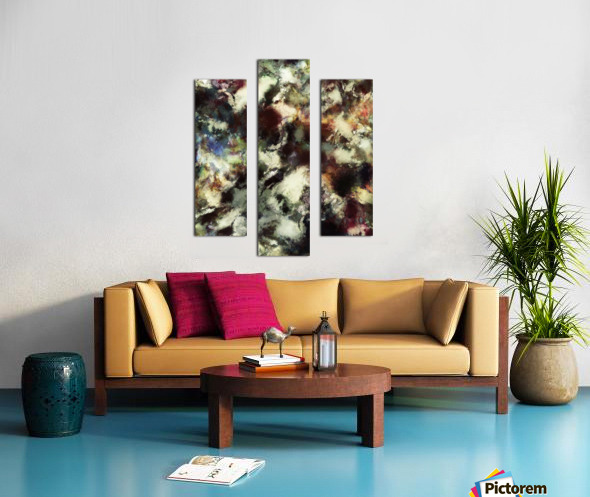 Picking up the fragments Canvas print