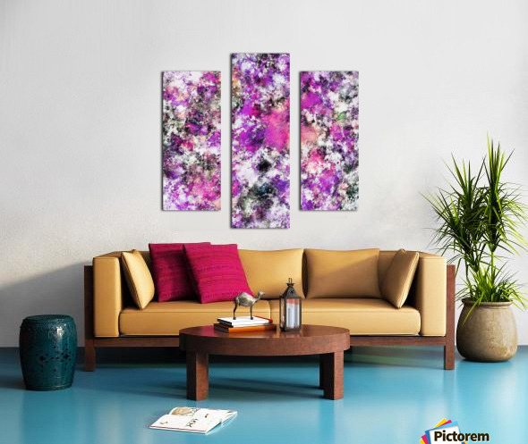 Reflecting the purple water Canvas print