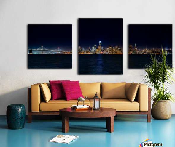 San Francisco City Skyline Panorama Canvas print