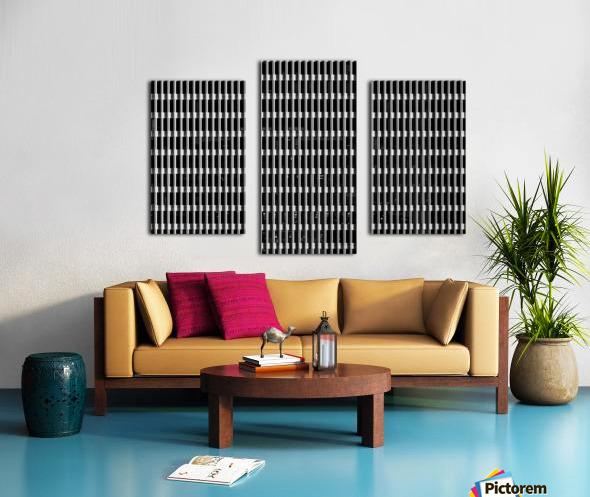 Black and White Skyscraper Windows Impression sur toile