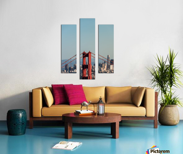 Threading the Needle - Golden Gate Bridge Canvas print