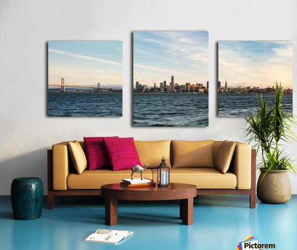 San Francisco City Skyline At Sunset Canvas print