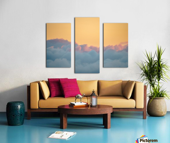 Clouds at Sunset Impression sur toile