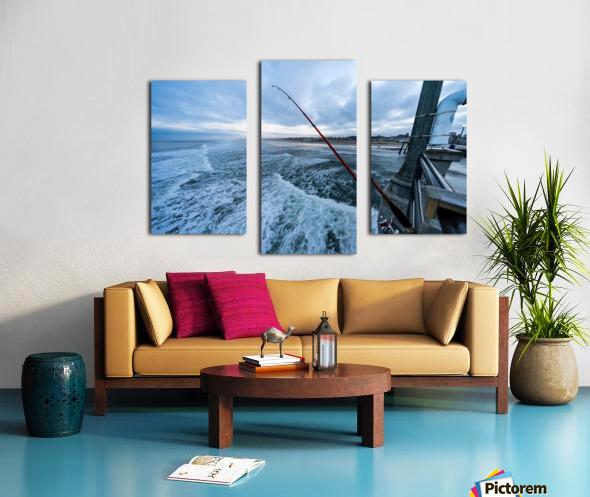 Fishing in Huntington Beach Canvas print