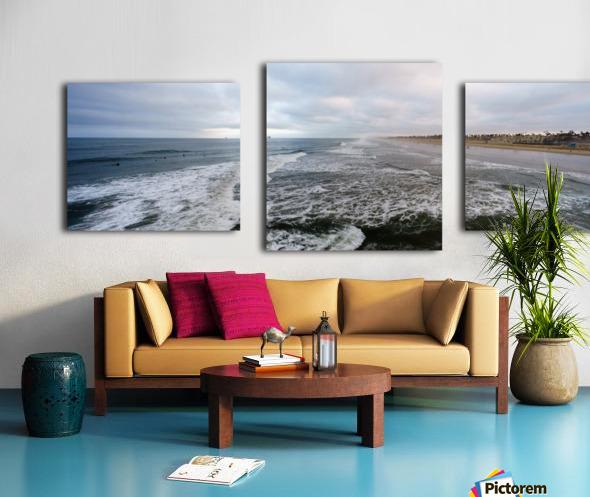 Huntington Beach Panorama Impression sur toile